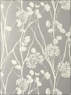Schumacher Moonpennies Silver Wallpaper
