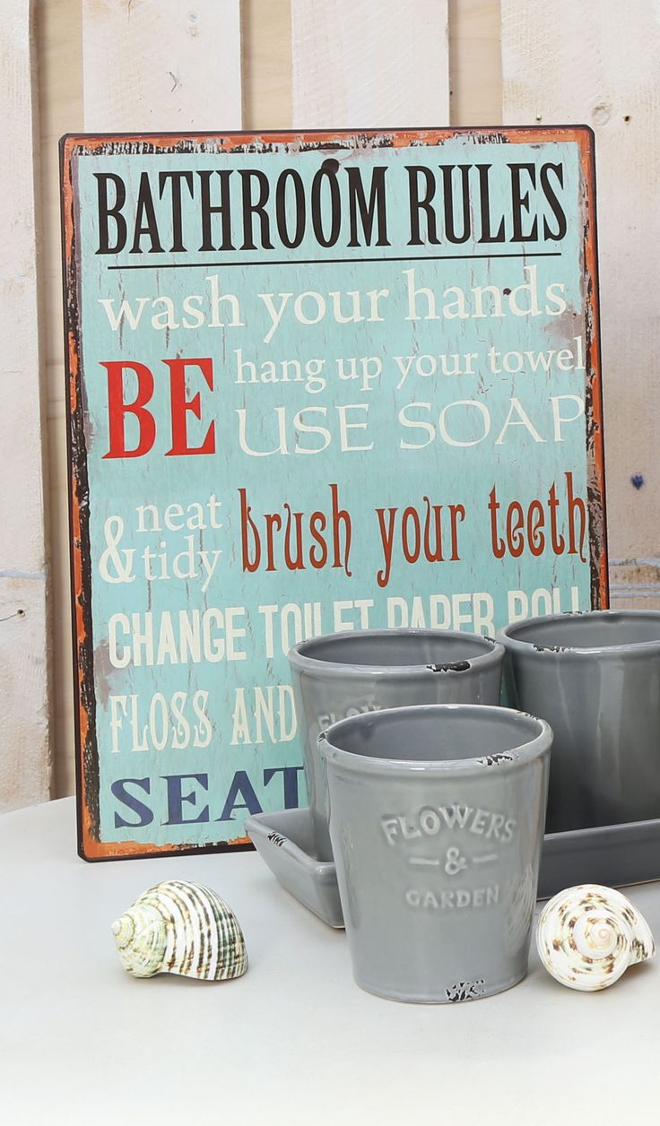 Remember #bathroom #rules with style! #decor #home #Agricola