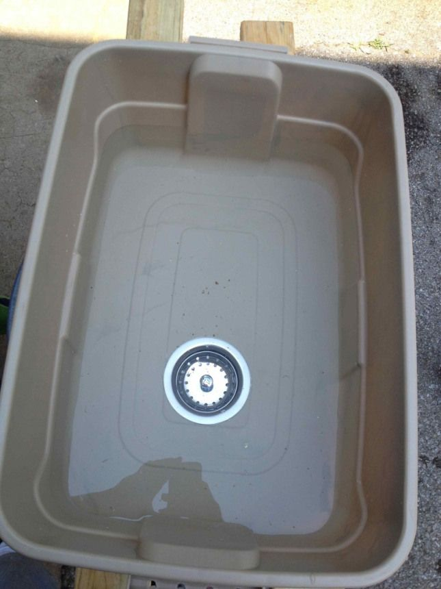 Outdoor camping sink... You have to wash your stuff, right? Why not make something instead of buying it!