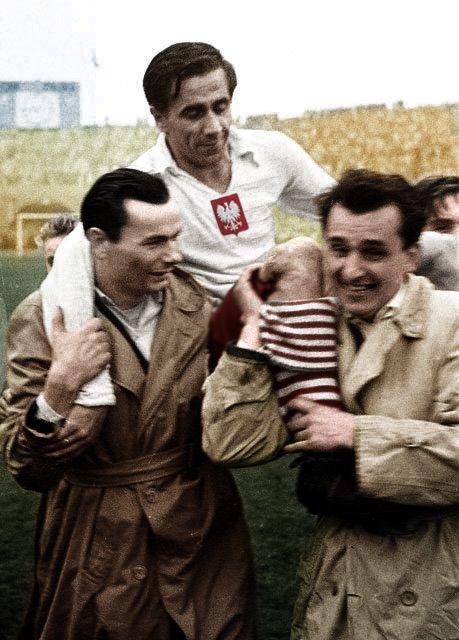 20.10.1957 - Chorzów - Polska 2:1 ZSRR Dwie bramki Gerarda Cieślika