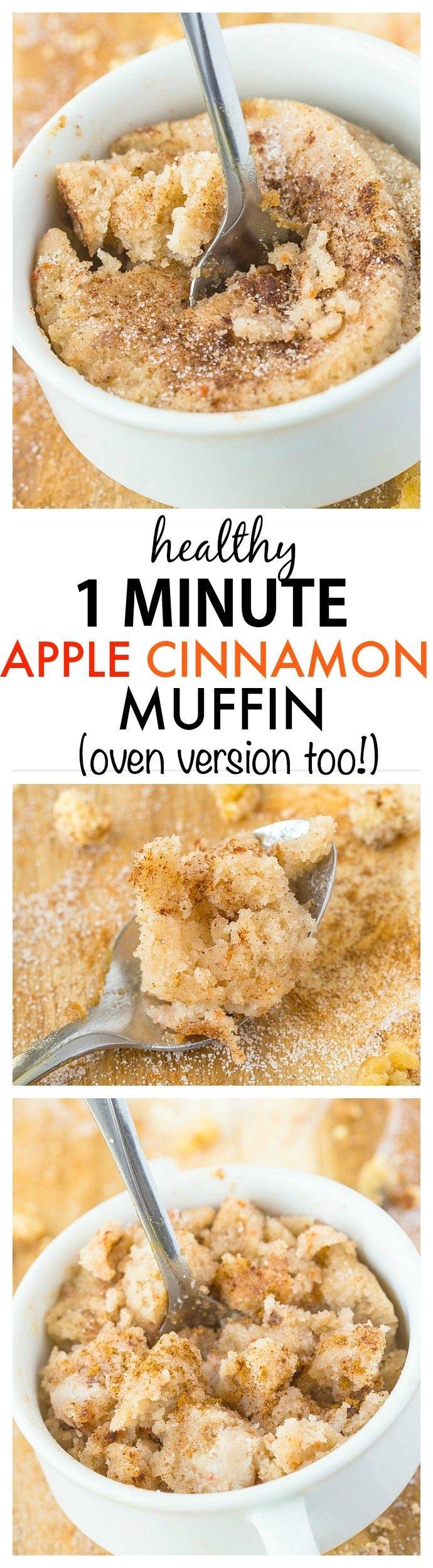 Healthy 1 Minute Apple Cinnamon Muffin