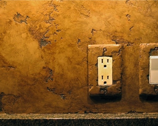 by Bella Faux Finishes: Faux Finish, Kitchens Design, Decor Ideas, Backsplash Ideas, Mediterranean Kitchen, Plaster Finish, Bathroom Wall, Kitchens Backsplash, Faux Paintings Finish