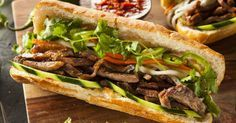 Bánh mì is a type of sandwich that is sort of the Vietnamese equivalent of a po' boy.