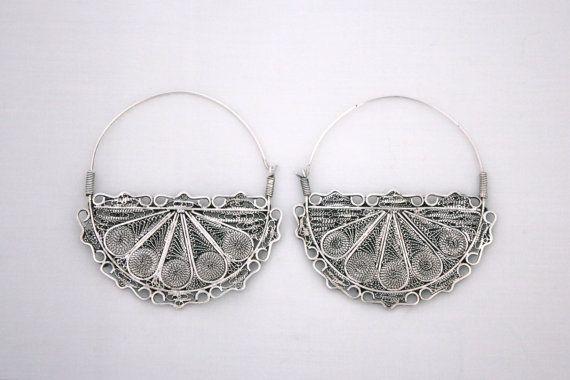 Vintage Moroccan Berber Taros Earrings