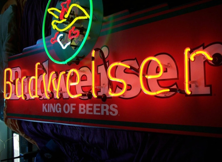 Budweiser King Of Beers Neon Collectors Outlet Sold Beer Signs