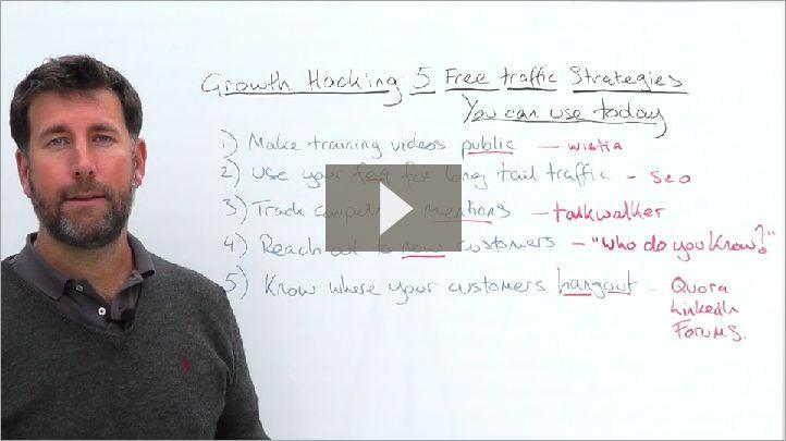 Growth Hacking 5 Free Traffic Strategies  http://www.disruptware.com/business/growth-hacking-5-free-traffic-strategies/