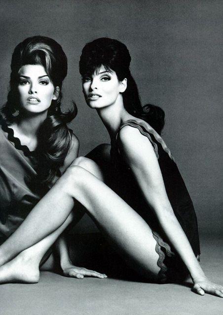 Shana Zadrick and Linda Evangelista but I prefer Linda because she is super-duper-gorgeous.
