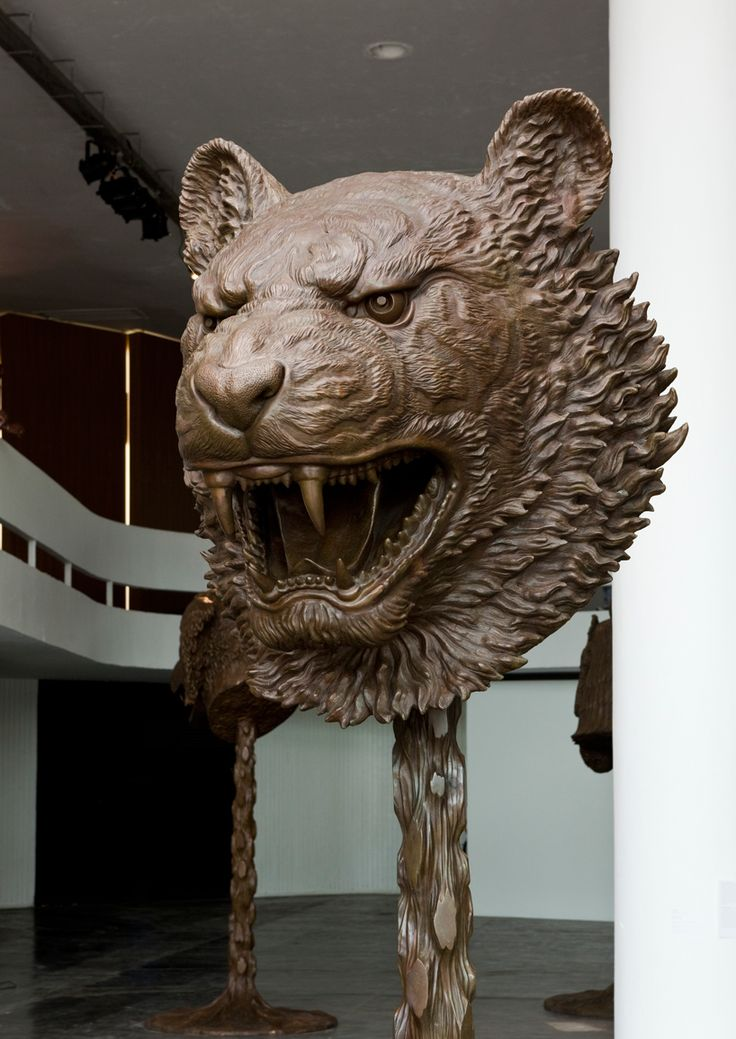 ai weiwei's new chinese zodiac sculptures are huge and glorious, being a leo, the lion is my favorite
