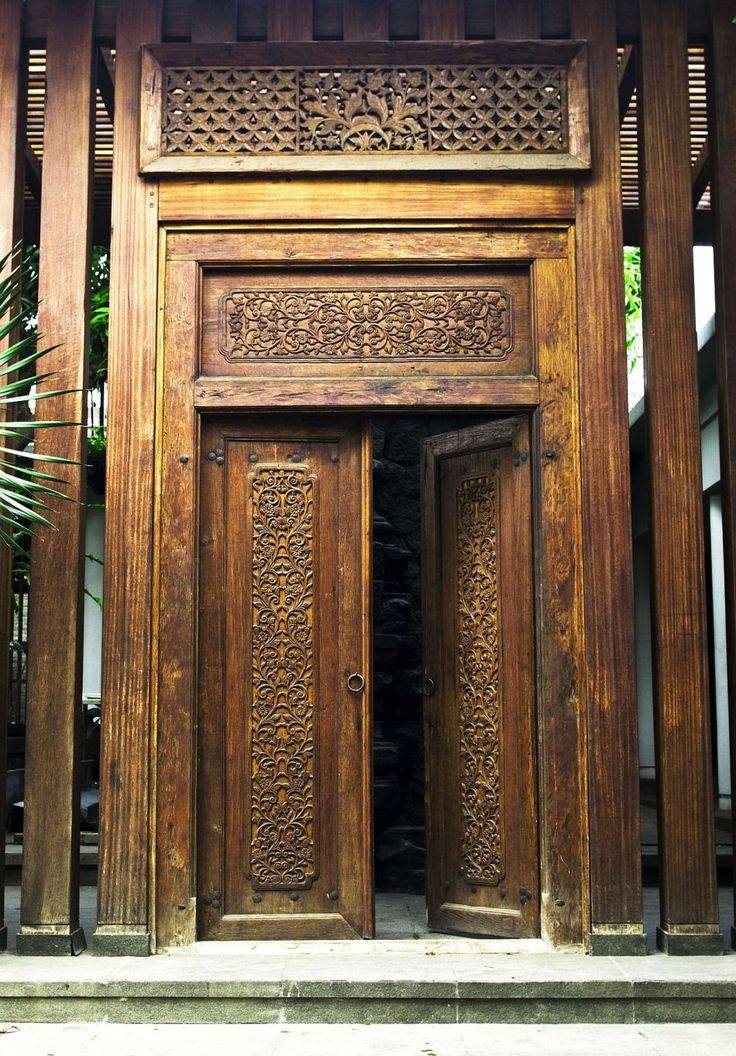 Balinese Carved Wooden Entrance Doors