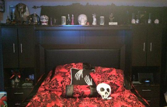 Goth bedroom.