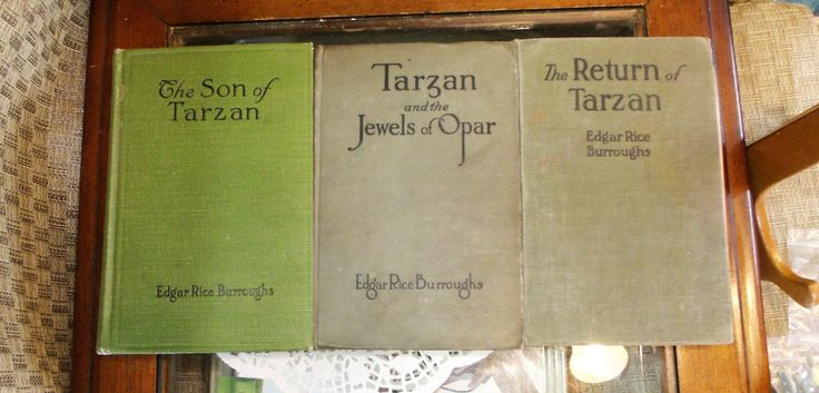 3 Green Edgar Rice Burroughs Tarzan Series Books ~ Return of Tarzan ~ Son of Tarzan ~ Tarzan & Jewels of Opar ~ A.L. Burt Co ~ Antique book by EclecticJewells on Etsy