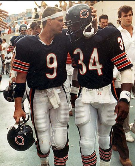 Bears and best buds Walter Payton & Jim McMahon 1980