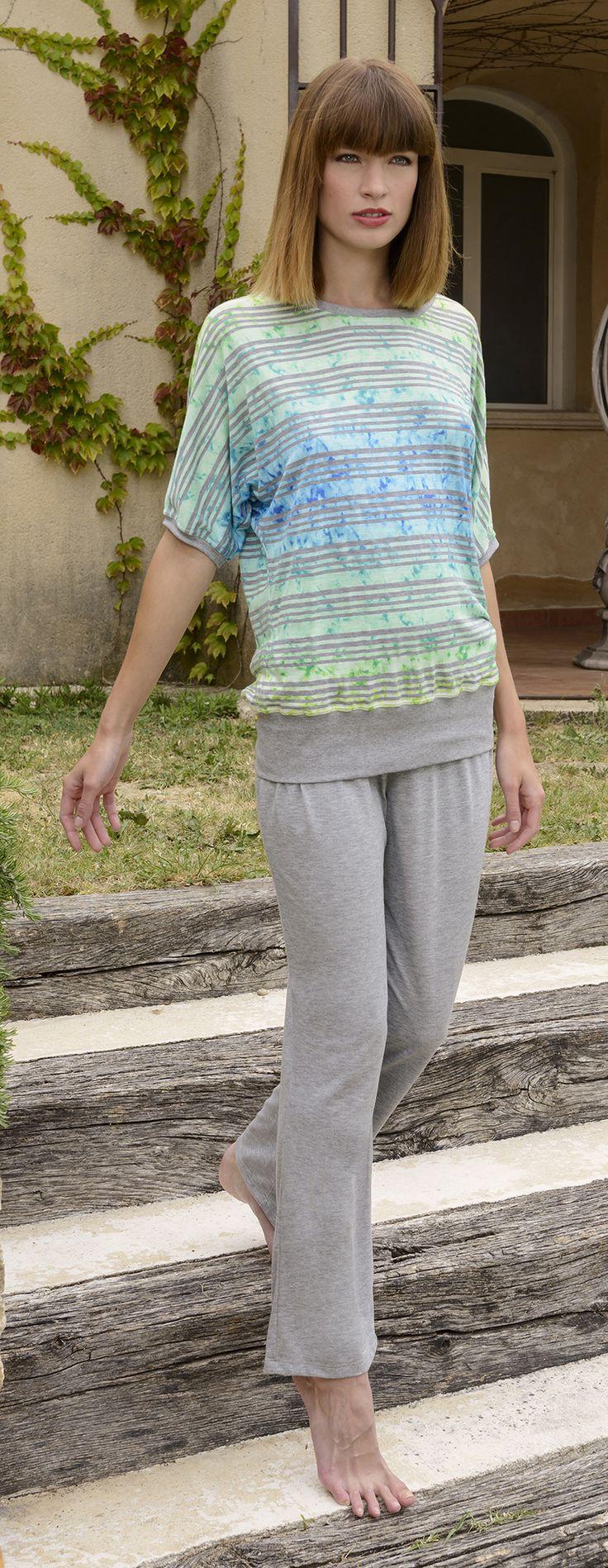 CYBÈLE Jaro-Léto 2015 | Volnočasové prádlo | Triko | Kalhoty | Loungewear | T-shirt | Trousers | www.naturana-plavky-pradlo.cz