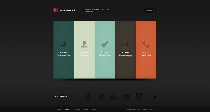 Great creative concept for web design. Something similar to this would be awesome to create.