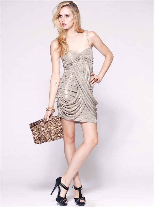 Bullion Cross-over Dress by Signature T at AlibiOnline