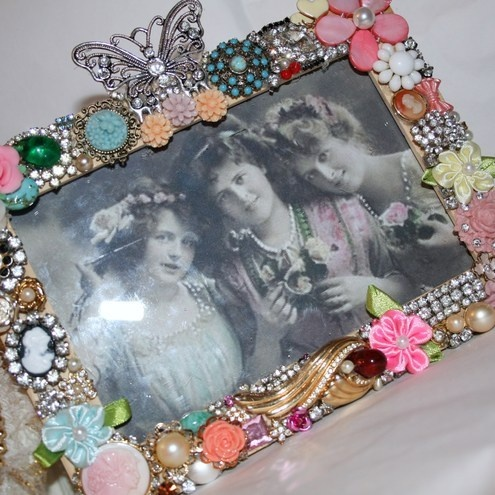 Vintage Style, One of a Kind Handmade Jewelled ... -Makush's Jewellery.£52.00. Folksy: Cameo Rose, Vintage Style
