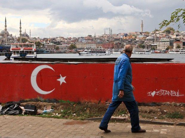 Drapeau national de la Turquie, à Istanbul