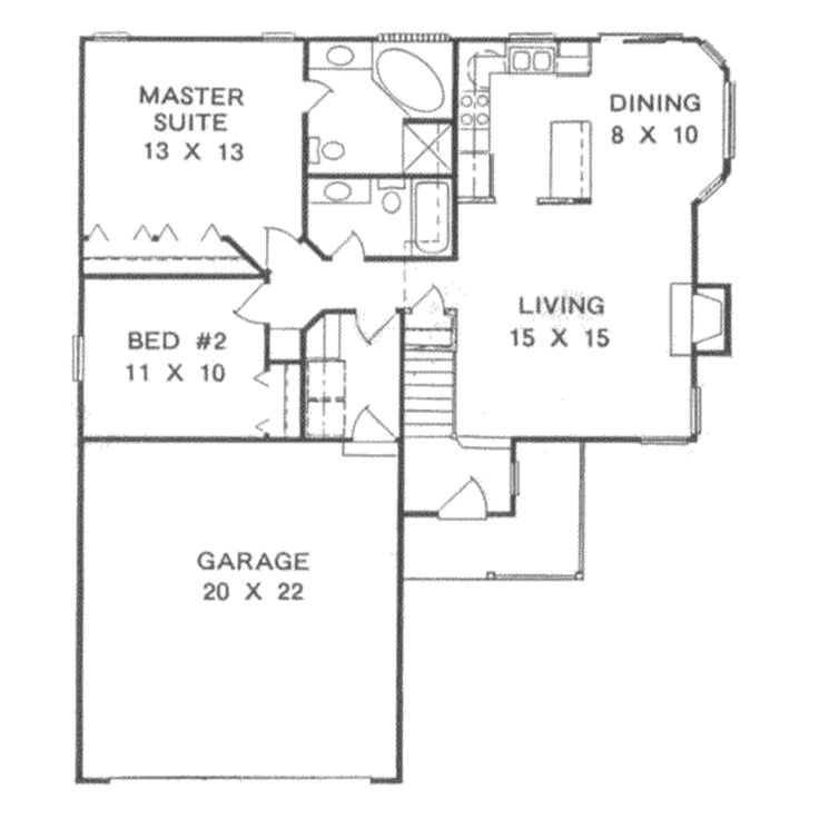 house plan 2 beds 2 baths 1041 sq ft plan 58 103 floor plan main