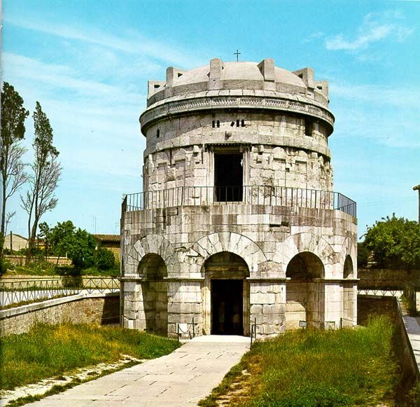Ravenna (IT) --Mausoleum of Theodoric, king of the Ostrogoths (471–526), ruler of Italy (493–526), regent of the Visigoths (511–526), and a viceroy of the Eastern Roman Empire.