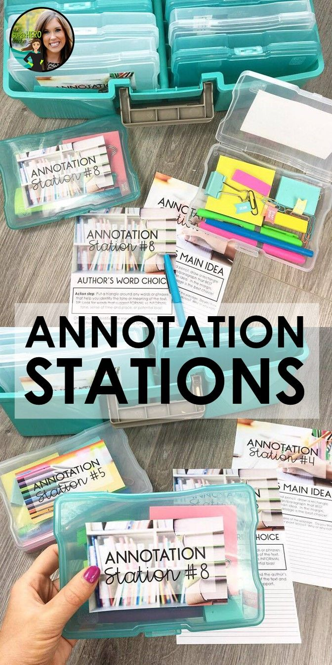 Annotation Stations for high school English Language Arts | Informational Text Activities | Nonfiction text stations | Annotating the text