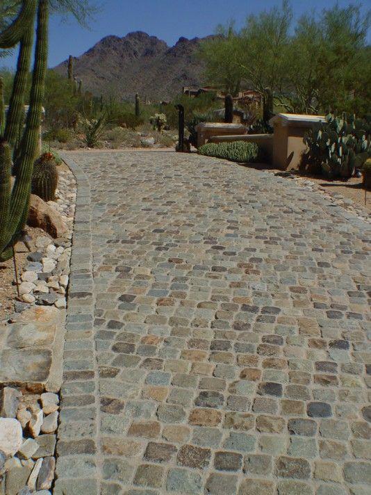 30. Antique Granite Cobble 6x6. Scottsdale, AZ