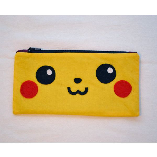 Pikachu Zipper Pouch ($12) ❤ liked on Polyvore featuring beauty products, beauty accessories, bags & cases, bags, pokemon and purses