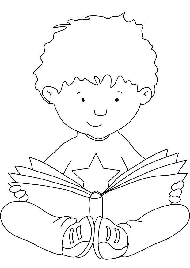 Reading-coloring-1 | Free Coloring Page Site