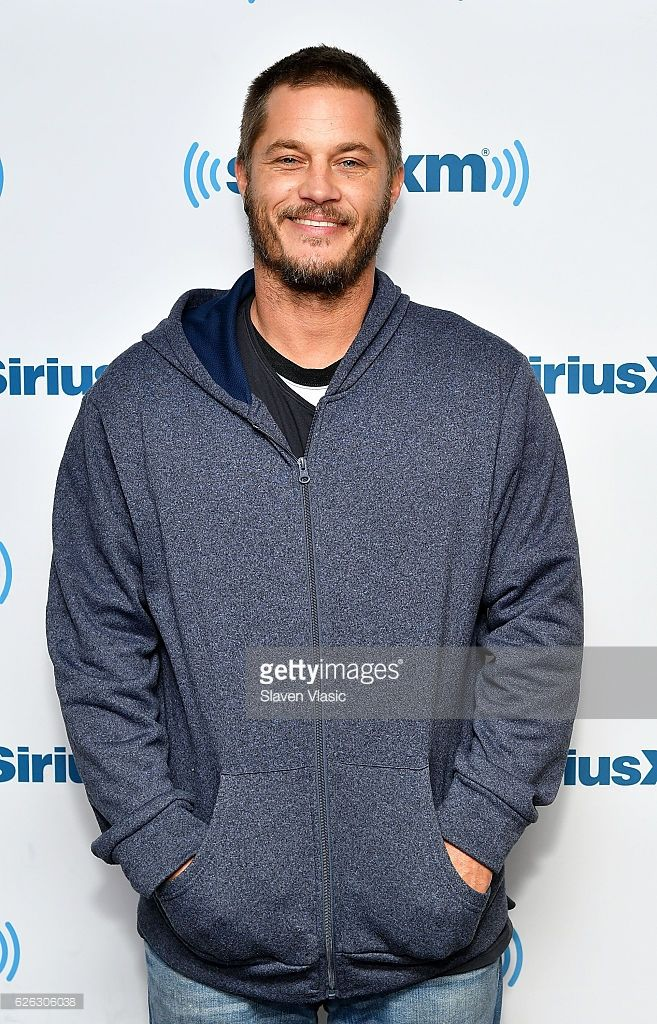Actor Travis Fimmel visits SiriusXM Studio on November 28, 2016 in New York City.