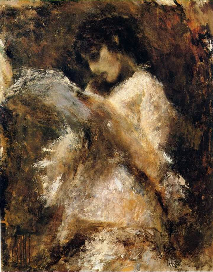 Tranquillo Cremona  La lettrice, 1873-1878  Olio su tela, 105 x 85 cm