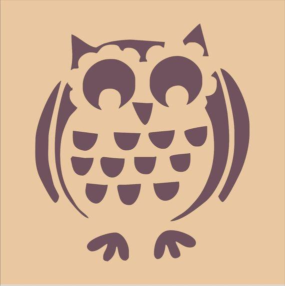 Owl Stencil- for pumpkin carving