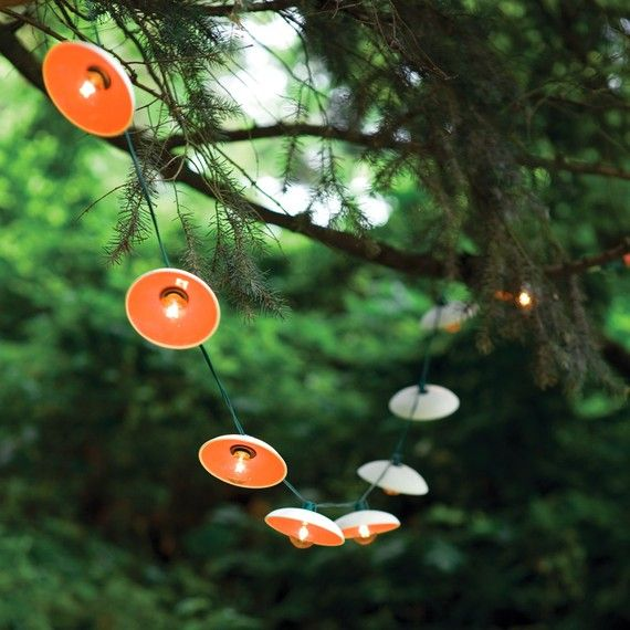 Disc String Lights by PigeonToeCeramics on Etsy