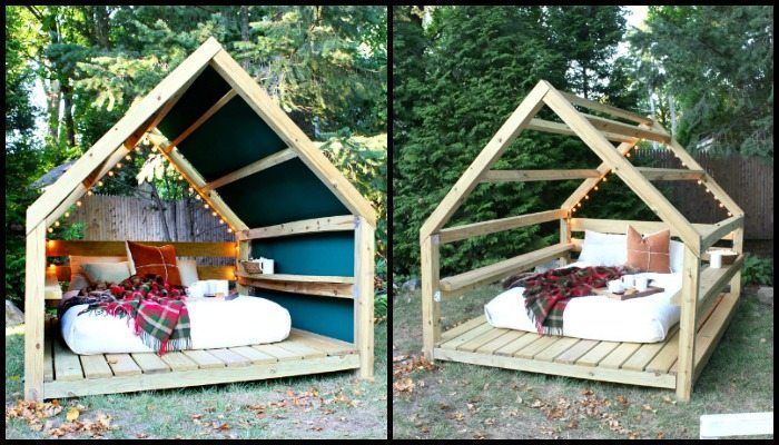 Unwind in your backyard with a cozy DIY outdoor cabana lounge! | DIY projects for everyone!