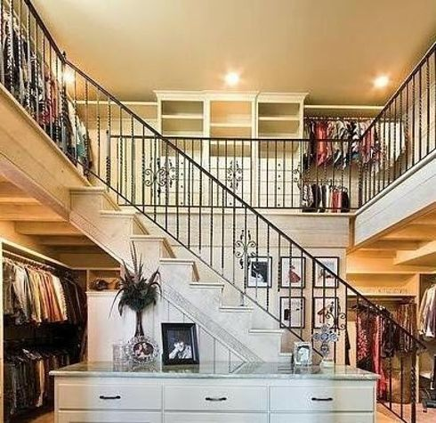 36 Things You Obviously Need In Your New Home | 36 Things You Obviously Need In Your New Home.  A two-storey closet. I have died and gone to closet heaven (although It'd feel a bit too much in real life- a girl can dream!).