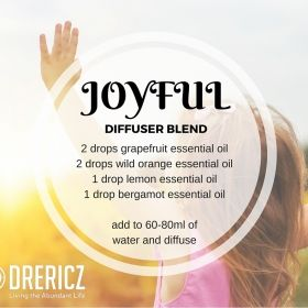Shout for joy!  This uplifting diffuser blend is bound to lift your spirit!