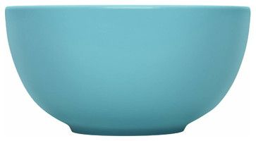 Teema Serving Bowl Turquoise - contemporary - Serving Bowls - Los Angeles - Fitzsu