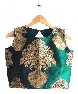 Latest Designer Jacquard Blouse(Semi-Stitched)..  http://kmozi.com/designer-blouse/latest-designer-jacquard-blouse-semi-stitched-1478