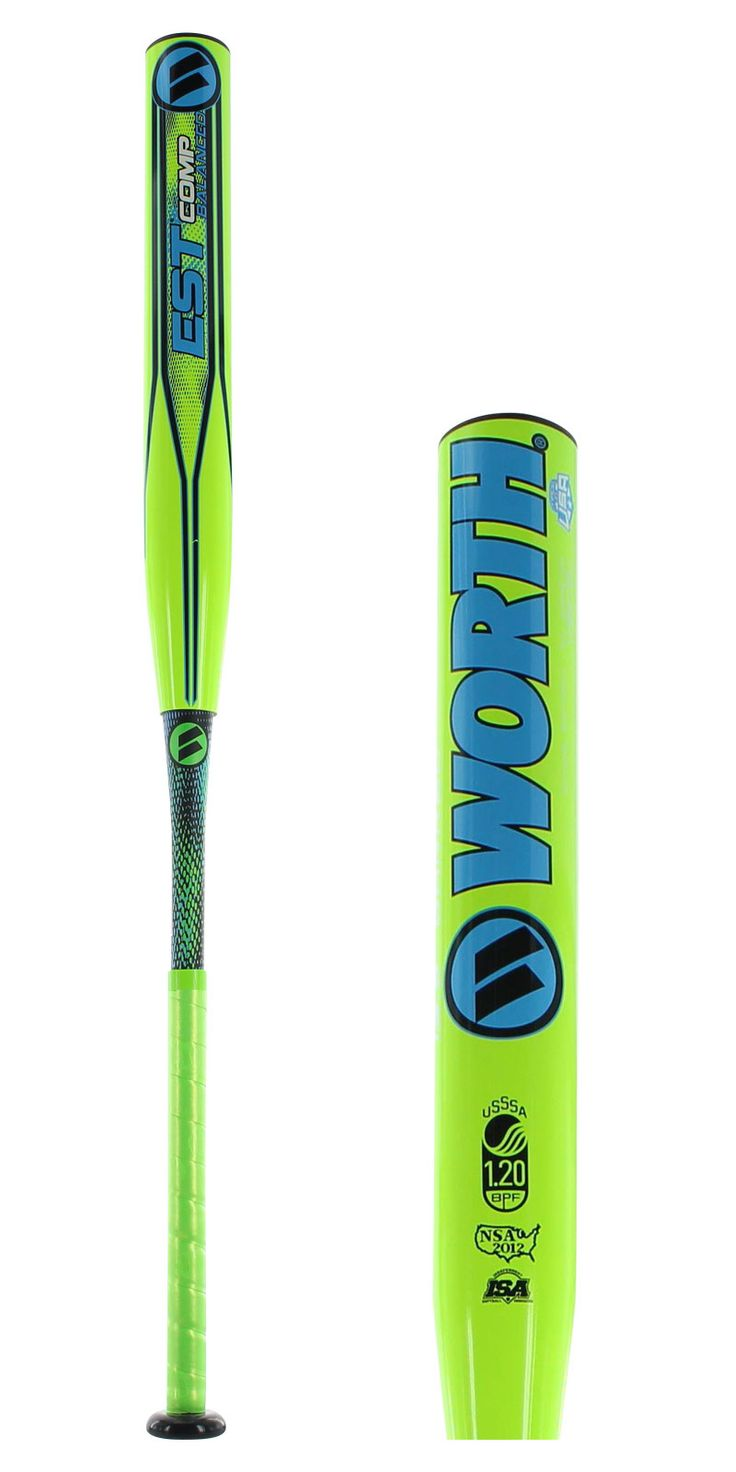 This Worth EST Comp USSSA slow pitch softball bat comes with a 13.50-inch barrel length, a standard 2 1/4 inch barrel diameter, and a balanced swing weight that is perfect for contact hitters. Step up to the plate with confidence and order your Worth softball bat today with free shipping at JustBats. Don't forget, we're here from click to hit!