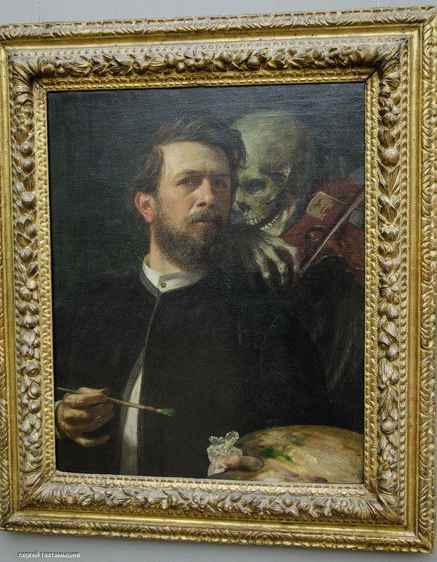Национальная галерея Берлина. Продолжение - vita_colorata Арнольд  Бёклин. Автопортрет со смертью , играющей на скрипке.