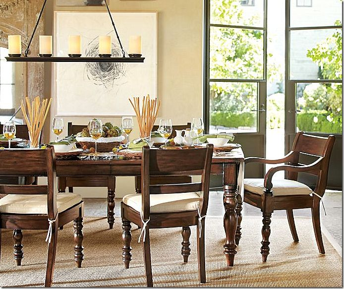 I Love This Hayden Extending Dining Table And Chairs From Pottery Barn Its A Great Color Brown That Compliments The Ivory Seat Cushions Harvest