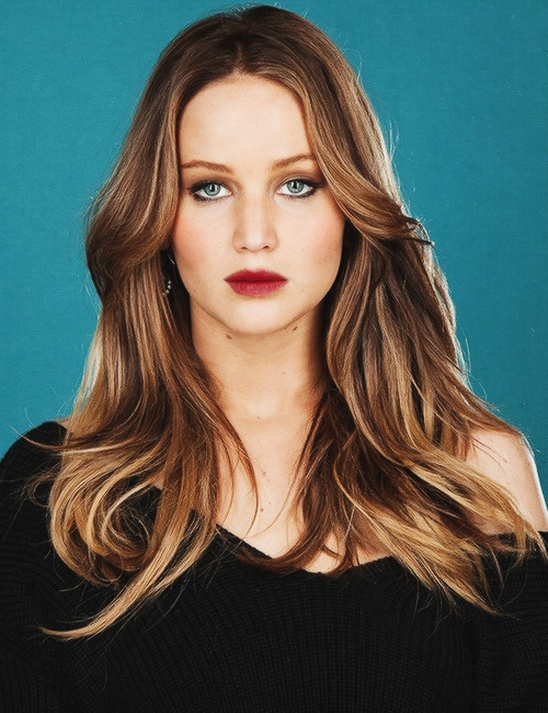 Jennifer Lawrence's hair is amazing here.