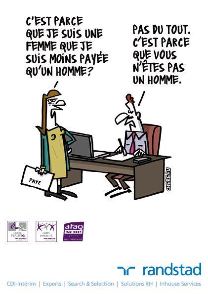 12 dessins humoristiques sur l'égalité professionnelle