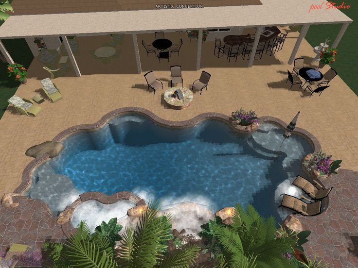 17 Best Images About 3d Pool Design Portfolio On Pinterest