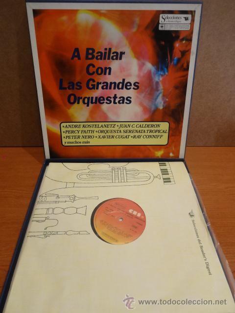 A BAILAR CON LAS GRANDES ORQUESTAS. CAJA CON 8 LP'S / CBS - 1978. CALIDAD LUJO. ****/****