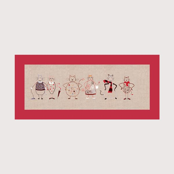 Frise de chats Bonheur des Dames kit imprimé