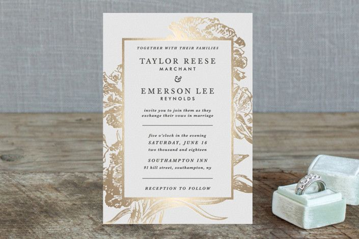Gilded Bloom by Christie Kelly at minted wedding invitations - fresh invitation wording reception