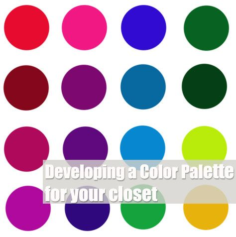 Tips for honing in on a set of colors that work for your wardrobe