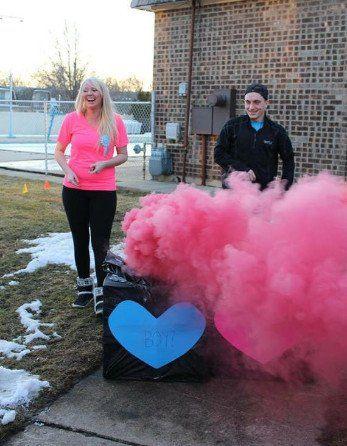 Gender Reveal Smoke Bombs - Pink or Blue Colored Smoke Sticks