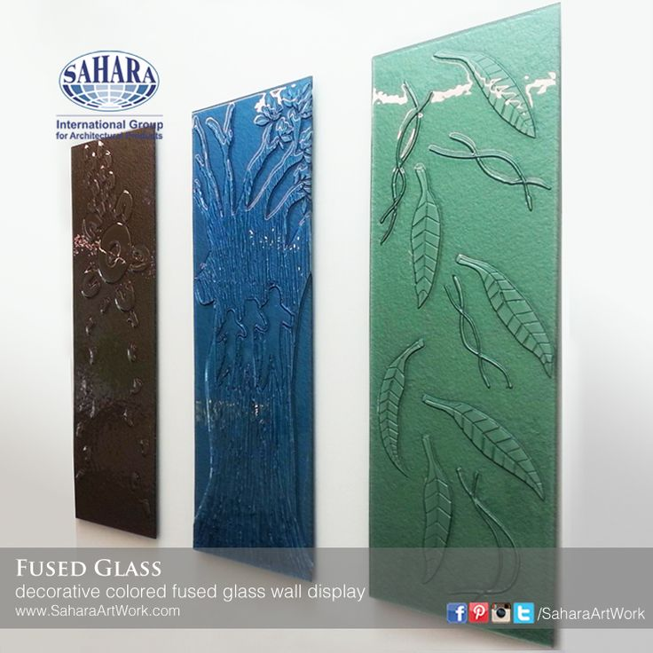 Wall decorative textured and designed colored fused glass to achieve beautiful effects.