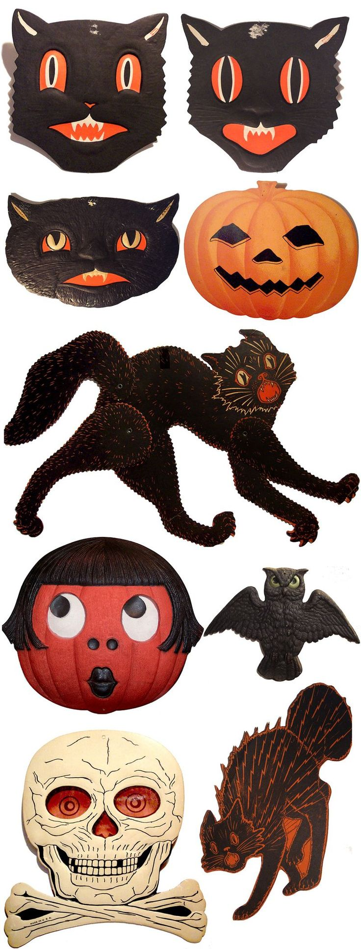 Vintage halloween paper decorations - A Fantastic Collection Of Vintage Paper Halloween Decorations
