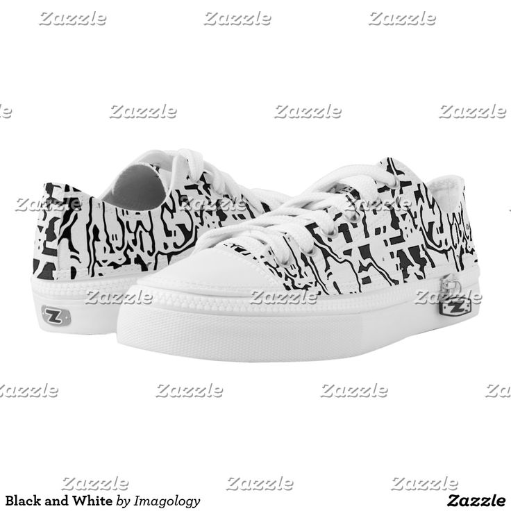 Black and White Printed Shoes
